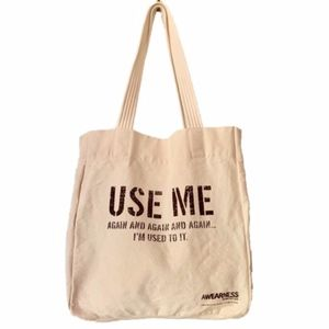 "Kenneth Cole ""USE ME"" Cotton Tote"